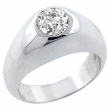 diamond 18k white gold gypsy ring  1