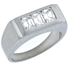 diamond 14k white gold band 1