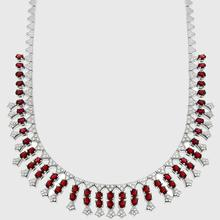 Burmese Ruby Diamond Gold Necklace