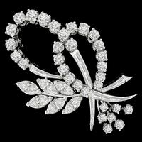 4.00ct Diamond Floral Pin