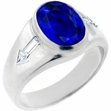 estate diamond sapphire platinum ring 1