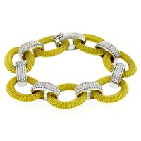 3.50ct Diamond 2 Tone Gold Bracelet