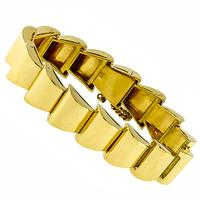 Retro Gold Geometric Bracelet