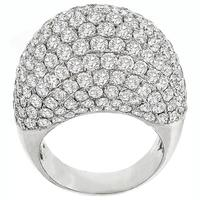 7.00ct Diamond Bombe Gold Ring