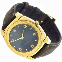 Rolex Cellini Gold Leather Watch