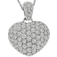 2.60ct Diamond Gold Heart Pendant