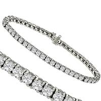 6.95ct Diamond Tennis Gold Bracelet