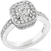 GIA 0.92ct Diamond Engagement Ring And Wedding Band Set