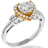 GIA 1.11ct Diamond Gold Engagement Ring