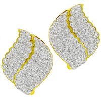 5.31ct Diamond Gold Earrings