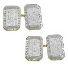 platinum and 14k yellow gold cufflinks 1