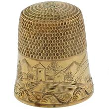 antique 10k yellow gold thimble 1