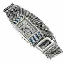 sapphire diamond 14k white gold platinum watch 1