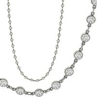 13.65ct Diamond By The Yard Necklace