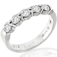 0.50ct Diamond Platinum Wedding Band