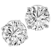 GIA 1.00ct/1.01ct Diamond Gold Studs Earrings