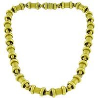 B Kieselstein-Cord Gold Barrel Necklace