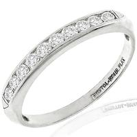 Vintage Bristol 0.35ct Round Brilliant Diamond Platinum Wedding Band