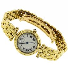 18k yellow gold cartier cougar watch  1