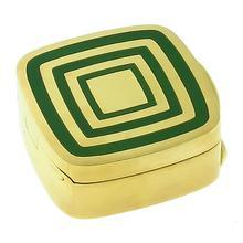 18k yellow gold enamel pill box 1