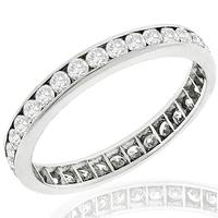 0.90ct Diamond Eternity Wedding Band Estate