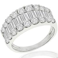2.00ct Diamond Cluster Platinum Ring