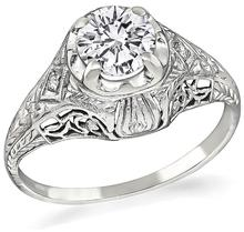 edwardian round cut diamond engagement ring 1