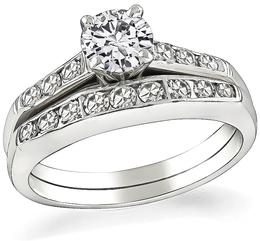 Estate 0.50ct Diamond Engagement Ring and Wedding Band Set