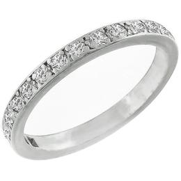 Estate 0.5ct Round Brilliant Cut Diamond 14k White Gold Wedding Band