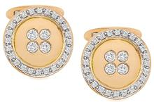 Estate 0.80ct Diamond Gold Cufflinks