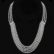 Estate 10.00ct Round Brilliant Diamond 18k White Gold Necklace