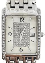 Estate 1.00ct Diamond Mother of Pearl Concord Watch