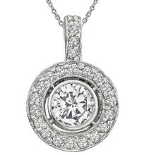estate 1.00ct diamond pendant 1