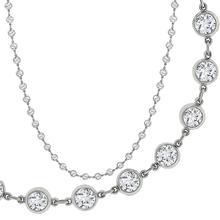 10.91ct Round Cut Diamond By The Yard Platinum Necklace