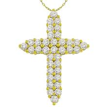 Diamond Gold Cross Pendant