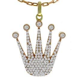 Diamond Gold Crown Pendant