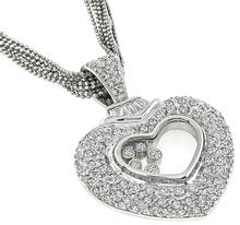 Estate 6.00ct Diamond Heart Pendant Necklace