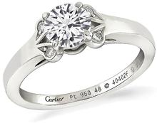 cartier diamond engagement ring