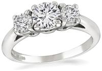 Tiffany & Co Round Cut Diamond Platinum Engagement Ring