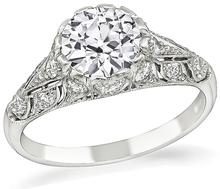 Estate GIA Certified 1.35ct Diamond Engagement Ring