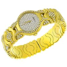 Moboco 4.35ct Diamond Gold Bangle Watch