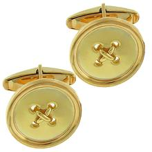 Estate Tiffany & Co. 14k Yellow Gold Button Cufflinks