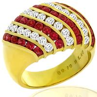 1.40ct Ruby 0.76ct Diamond Gold Ring