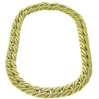 18k Yellow Gold Double Cuban Link Chain Necklace