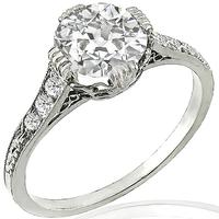 Estate GIA 1.26ct Diamond Engagement Ring