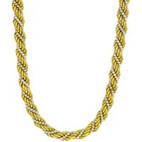 1960s Pearl Gold Rope Necklace