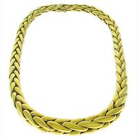Gold Braided Chain Necklace