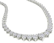 14.25cttw Diamond Riviera Necklace