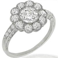 GIA 0.84ct Diamond Platinum Ring