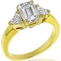 GIA 1.01ct Diamond Gold Engagement Ring